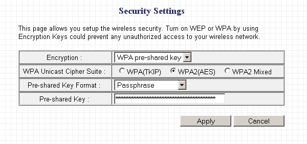 Router wireless encryption