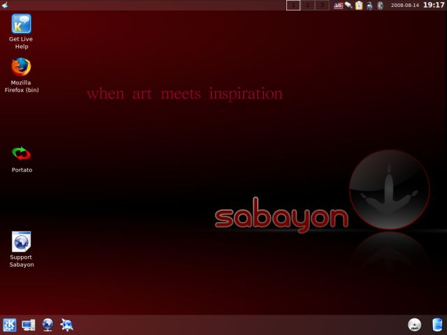 Sabayon desktop post install