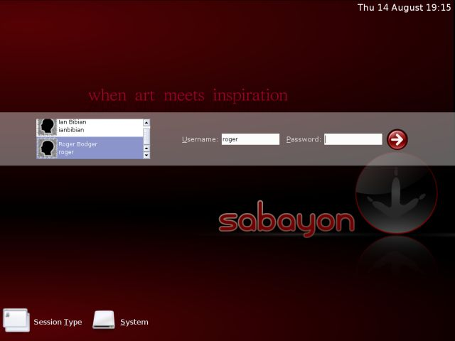 Sabayon users post install
