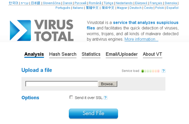 VirusTotal screenshot