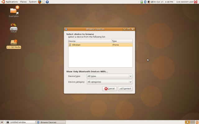 Ubuntu 8.10 bluetooth 1