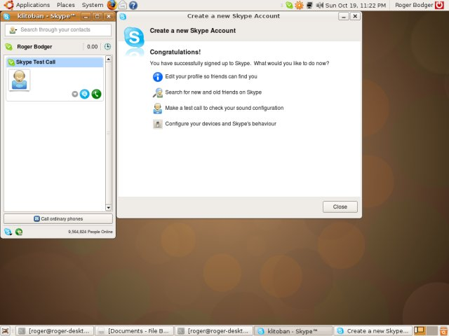 Ubuntu 8.10 skype working