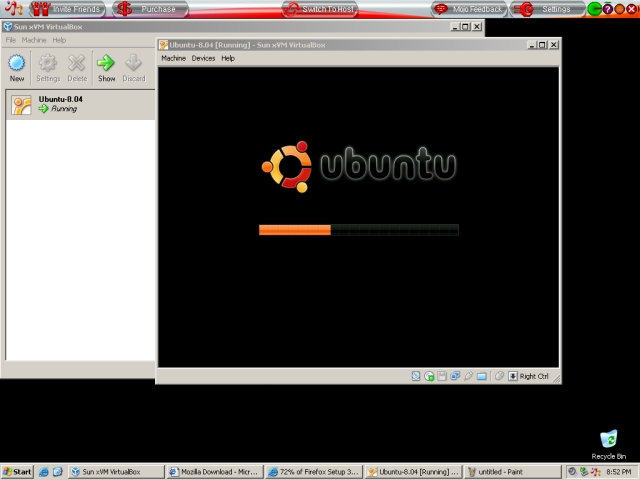 MojoPac running VirtualBox running Ubuntu