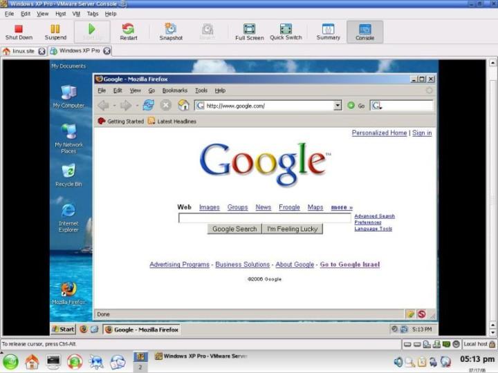 Installing VMware Server & Windows in Linux