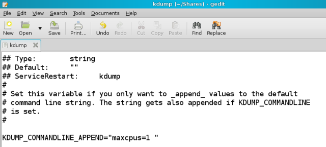 Command line append