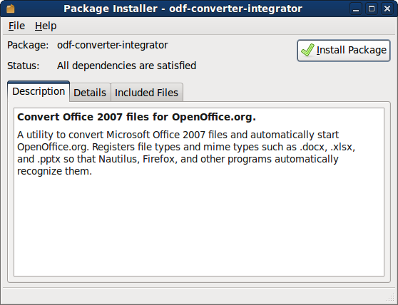 Converting OpenOffice files to/from Microsoft Office files