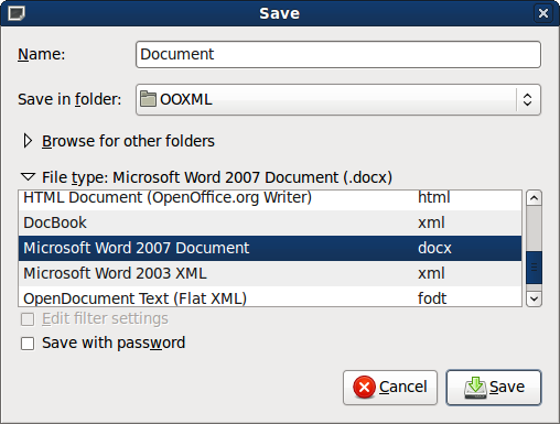 Converting openoffice files to from microsoft office files - Can open office open docx ...