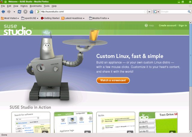 SUSE Studio - Make your own Linux