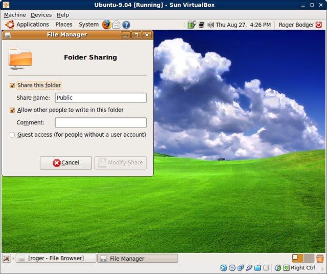Net use x vboxsvr sharename