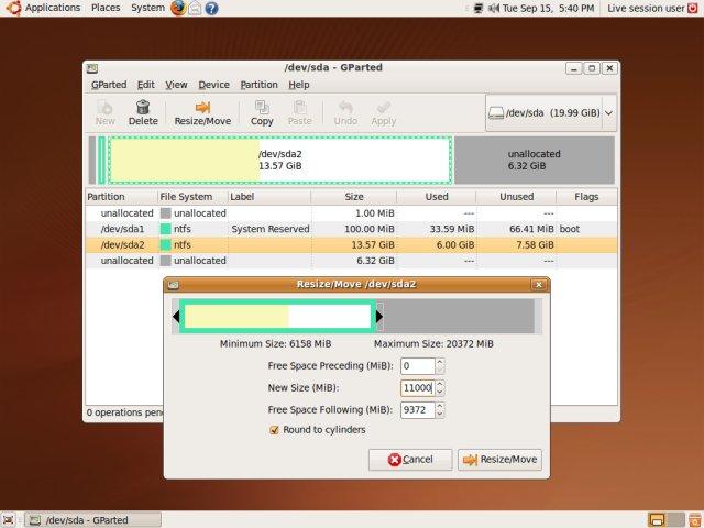 how to run gparted in ubuntu