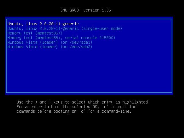 lilo boot loader windows 7