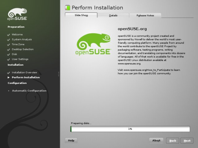 openSUSE installation guide
