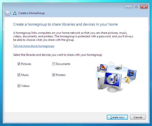 Create homegroup