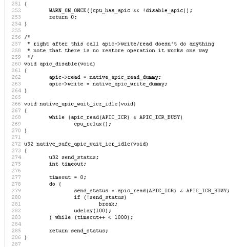 kernel source code: