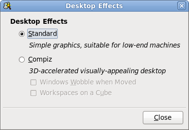 Desktop effects