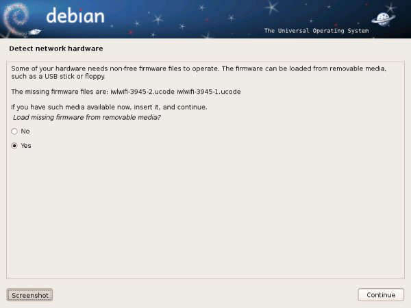 Debian, missing firmware
