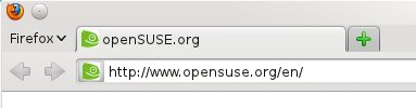 openSUSE, tabs on top