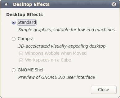 Desktop effects, enable