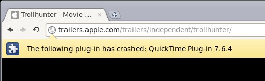 Quicktime crash