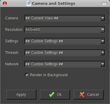 Rendering options