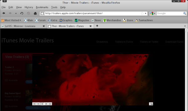 Apple iTunes trailer, QuickTime