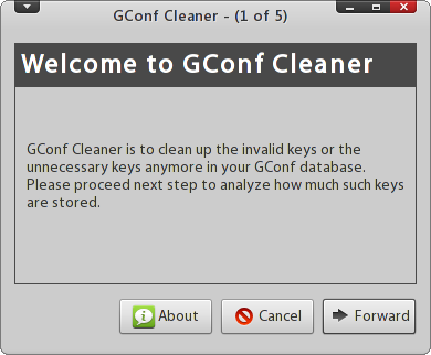 gconf-cleaner