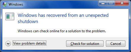 BSOD recovery
