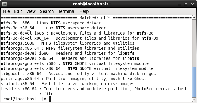 NTFS support