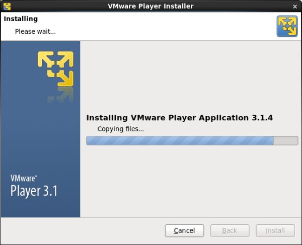 VMware Player install
