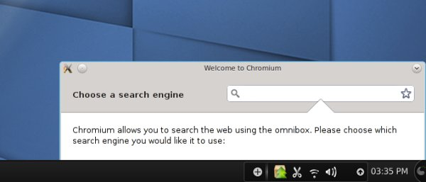 Chromium search engine