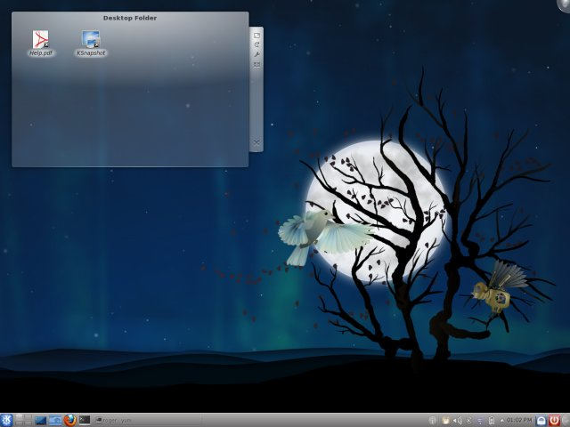 Desktop with birds, static