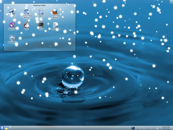 Desktop effects, snowing
