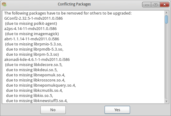Missing packages