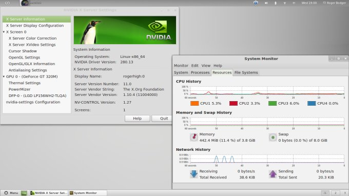 Nvidia driver, system usage