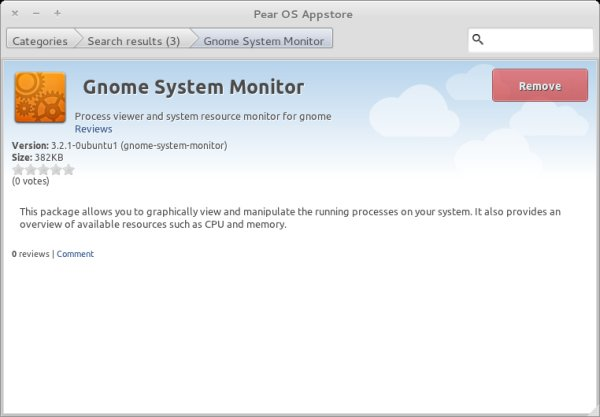 System monitor is installed