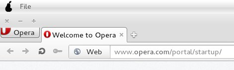 Opera button, cropped