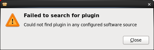Missing plugins failed