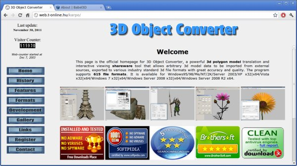 3D file format conversion tools