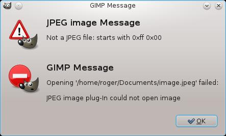 GIMP error