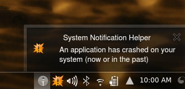 Crash notification
