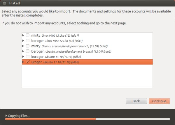 User import