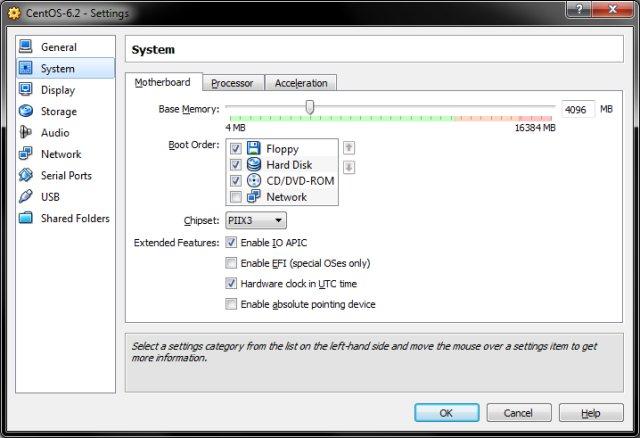 Fedora FATAL: INT18: BOOT FAILURE in VirtualBox