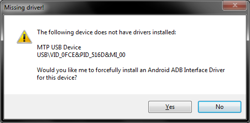 Forceful driver install