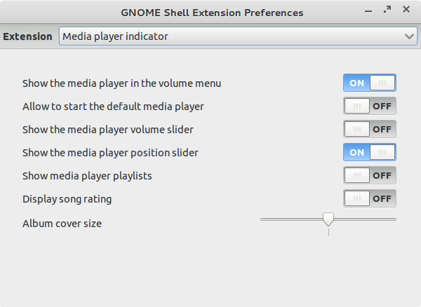Media player extension