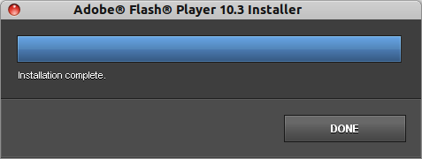 Flash installed