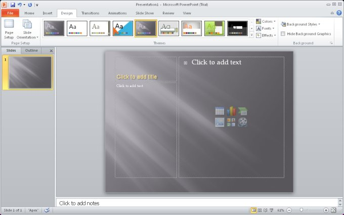 PowerPoint running
