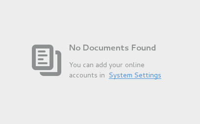 Documents online accounts message