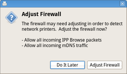Adjust firewall rules