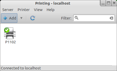 Printer configured