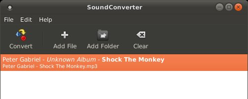 Sound converter, default action
